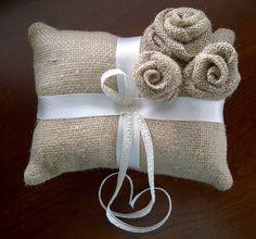 Rustic Ring Bearer Pillow Ideas | Burlap Ring Bearer Pillow