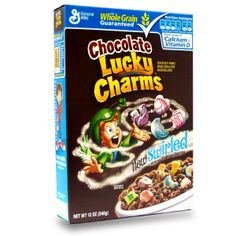 Chocolate Lucky Charms...much more delicious than the plain kind.