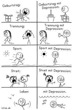 Leben mit Depression | #depressiv #comic #islieb