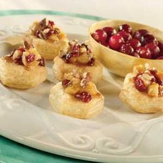 Pepperidge Farm® Puff Pastry: Mini Caramelized Apple and Cranberry Gratin Cups
