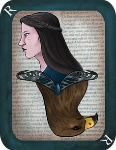 Rowena Ravenclaw Playing Card' by imaginativeink