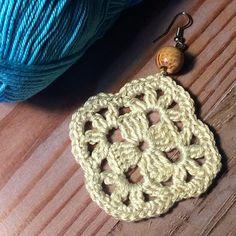 49. ONE Crochet Earrings Pattern PDF File Crochet square