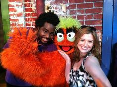 TWC Danielle Banks and furry monsters (and puppeteers) from the musical, Avenue Q