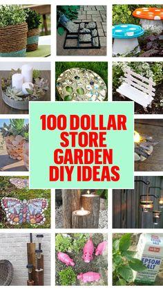 Diy Garden Projects, Garden Crafts, Diy Garden Decor, Garden Art, Garden Design, Garden Diy On A Budget, Patio Decorating Ideas On A Budget, Diy Outdoor Decorations, Budget Patio
