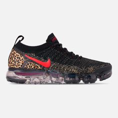 2f30fc0c0a55a Right view of Women's Nike Air VaporMax Flyknit 2 Running Shoes in  Black/Black/
