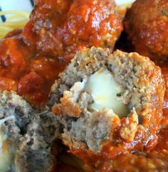 dinner, cook, ground beef, food, mozzarella stuf, mozzarellastuf, meatball recipes, yummi, stuf meatbal