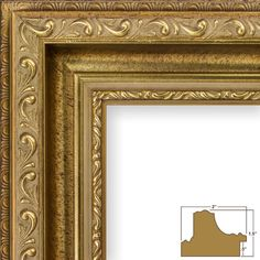Craig Frames 6607 20 by Picture Frame Smooth Finish Wide Brushed Antique Gold Acrylic Facing Foamcore Backing -- Learn more by visiting the image link.