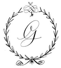 Mrs G ❤ Calligraphy Custom Heraldry G Calligraphy, G Tattoo, Penmanship, Monogram Initials, Monogram Fonts, Letter Art, Letters And Numbers, Lettering Design, Body Art