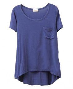 Irregular Modal T-shirt with High Low Hem