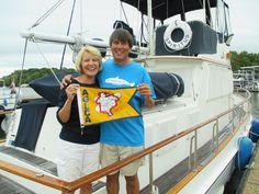Eddy & Linda Johnsen completed the Great Loop aboard Spiritus,  a Grand Banks 36 Classic, in  October 2013.  www.GreatLoop.org