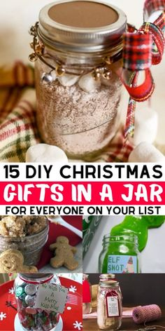 DIY Christmas gifts in a jar for coworkers, friends, family and your partner. These mason jar Christmas gifts for women and for men are the perfect cheap homemade gift for the Holidays. # DIY Gifts for women 15 Best DIY Christmas Gifts In A Jar For 2019 Diy Gifts For Christmas, Mason Jar Christmas Gifts, Mason Jar Gifts, Gift Jars, Christmas Christmas, Christmas Gifts For Neighbors, Crafts To Make And Sell Unique, Christmas Crafts To Make And Sell, Diy Christmas Videos