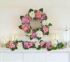 Hydrangea Burlap Wreath by Valerie
