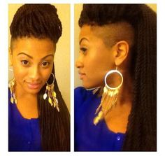 Shaved Sides with braids....I totally need this for my next hairstyle por favor