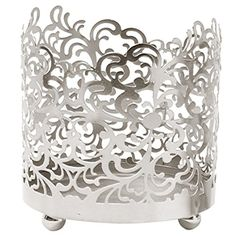 Hosleys 45 High Lace Jar Candle SleeveTea Light Lantern Silver Finish Ideal Gift Weddings for Spa Aromatherapy home Votive garden -- Visit the image link more details. Note:It is affiliate link to Amazon.
