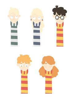 becomeadinosaur - Harry Potter bookmarks