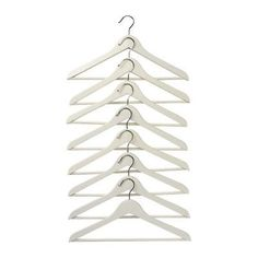 White Wooden Hangers 44cm with bar 50pk £30