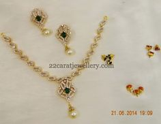 Jewellery Designs: Pretty Necklace with Changeable Stones