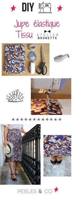 C'est encore l'été, sortez vos gambettes ! On vous propose un nouveau tuto facile de couture (en quelques heures seulement!) pour apprendre à coudre sa jupe élastique tendance avec du tissu léger de la collection Impression de la marque Atelier Brunette. Tutoriel proposé par Mathilde Giroud.