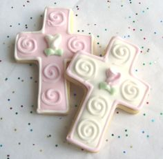 cross cookies | Cross Cookie Favors Cross Decorated Cookies First by lorisplace
