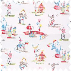 Kids Circus Decor Fabric