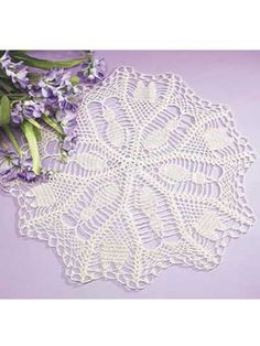 pretty kitty doily (This is the pattern that I used for the 2 that I did)
