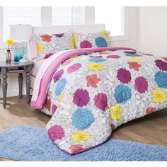 Formula Engraved Floral 7-piece Bed in a Bag Set | Overstock.com Shopping - The Best Deals on Teen Bed in a Bags