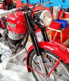 Bianchi Pordoi 174 cc 1954 vista frontale - Motor bike service