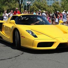 Ferrari Enzo 2002 Ferrari regularly produces a model that represents a synthesis of its technological knowledge and its sporting experience.  #ferrari #enzo #money #yellow #speedagents