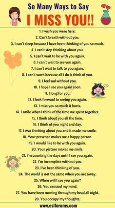 I Miss you Quotes: 30 Romantic Ways to S English Learning Spoken, Teaching English Grammar, English Writing Skills, English Language Learning, Spanish Language, Sms Language, Italian Language, Korean Language, Japanese Language