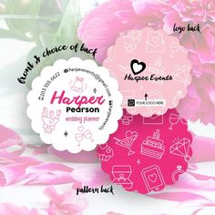 Love is in the air with Harper's design! With playful wedding icons and hot pink accents, it's the perfect card for event planners and anyone else involved in the wedding industry. Make this design your own and you'll be sure to impart a fashionable first impression on anyone you meet