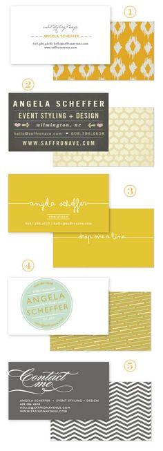 Cute business card designs.  I love that these have so many different designs because I change my mind all the time!!