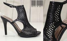 Madden Girl Laser Cut Peep Toe Shoe Ankle Bootie Slim High Heels Sz 7 Black NEW #MaddenGirl #OpenToe #SpecialOccasion