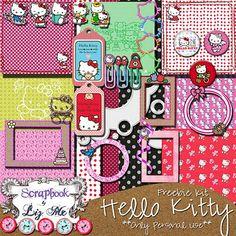 Hello Kitty Scrapbook Paper | ... tags digital scrapbooking freebies digiscrap digifreebies scrapbooking