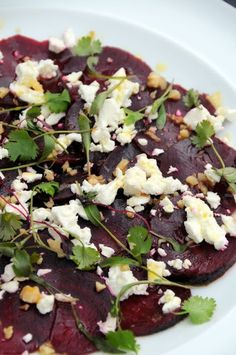 A simple, seasonal salad of beetroot, feta and walnut.