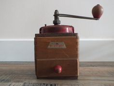 PEUGEOT BROTHERS wooden coffee grinder by TheFrenchAtticBazaar