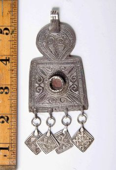 ON HOLD An antique solid silver Moroccan Berber by AzulTribe