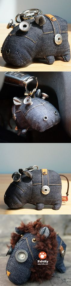 [2016.8.26] Wonder Zoo | Handmade Cute Animal jean stuffed Small charm keychain phone charm bag charm