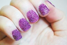 DIY Sugar Glitter Nails