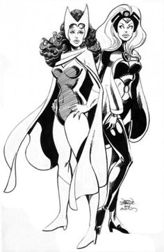 Storm and Scarlet Witch by John Byrne