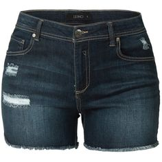 LE3NO Womens Fitted Push Up Denim Jean Shorts with Pockets ($16) ❤ liked on Polyvore featuring shorts, pocket shorts, denim shorts and fitted shorts