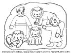 Daniel and the Lions' Den coloring sheet and crafts.