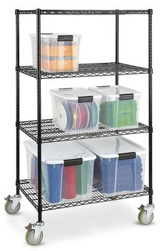 b42a4cbb70e Uline stocks a wide selection of Black Mobile Shelving and Black Mobile  Wire Shelving. 11 Locations across USA