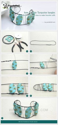 Jewelry Making Tutorial-How to Make Turquoise Bangle in Different Way | PandaHall Beads Jewelry Blog