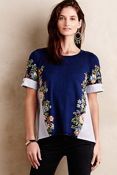 Anthropologie EU Alpine Meadow Top
