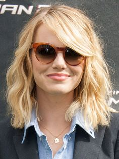 The key to a good hairstyle lies in a good haircut, and Emma Stone's long bob lends itself to texturising a treat.