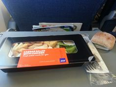 Yummy salad in the SAS airplane
