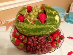 Watermelon Fish Fruit Bowl with Fruit Tray
