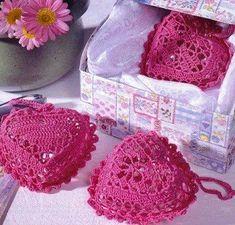 Mis Pasatiempos Amo el Crochet: Bolsitas corazón crochet