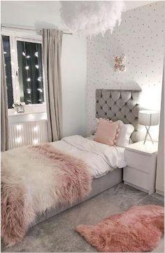 70 Basic Facts Of Bedroom Ideas For Teen Girl Dream Rooms 21 - onlyhomely Teen Bedroom Designs, Bedroom Decor For Teen Girls, Cute Bedroom Ideas, Room Ideas Bedroom, Modern Bedroom Design, Small Room Bedroom, Twin Girl Bedrooms, Master Bedroom, Light Pink Bedrooms