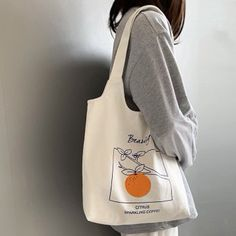 Women's Canvas Shoulder Tote Bag Large Capacity Cotton Cloth Shopping Bags Source by bag tote Sacs Tote Bags, Canvas Tote Bags, Cute Tote Bags, Canvas Totes, Reusable Tote Bags, Jute, Shopper Bag, Cloth Bags, Large Bags